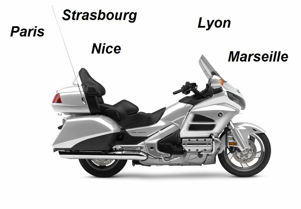 Trouver un taxi moto à Lyon, Marseille, Nice, Strasbourg ou Paris